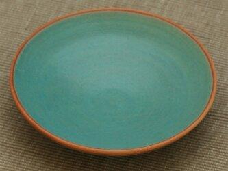 【SOLD OUT】陶器:トルコブルー(マット)の皿の画像