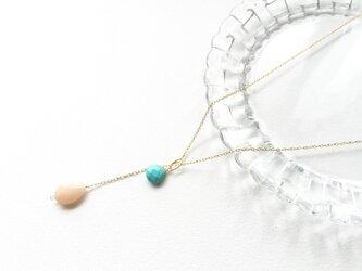 opaque ラリエット風ネックレスの画像
