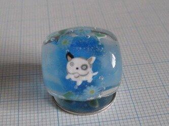 とんぼ玉 フレンチブルドッグ(青)の画像