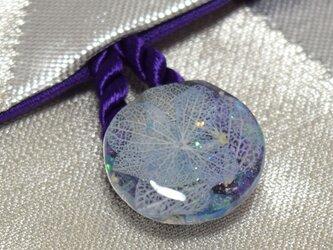 【鶴に紫陽花】18×12cmサイズ御朱印帳ケースの画像