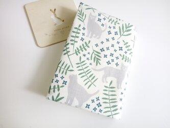 (文庫本用)草花と猫さん*ブックカバーの画像