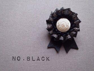 ロゼット * NO.lamé *blackの画像