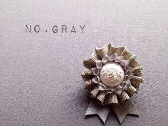 ロゼット * NO.lamé *grayの画像