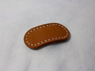 ヌメ革 ヘアゴム(キャメル色)の画像