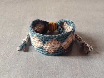 【セール】手編みブレスレット(小)の画像