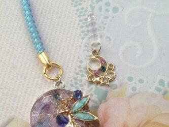7月誕生石カーネリアンとアメジストの妖精チャームの画像