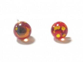 赤いソラのミカヅキとホシ(スタッドピアス)の画像