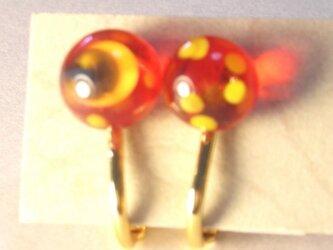 赤いソラのミカヅキとホシ(スタッドイヤリング)の画像