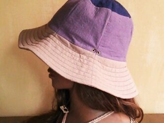 SALE30%OFF!! love patch hat : purpleの画像