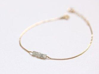 K18 キューブ ダイヤモンド ブレスレットの画像