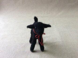 ウールのくろい子ヤギ  (再出品)の画像
