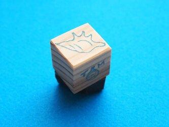 消しゴムはんこ「小さいサイズ☆巻貝」の画像