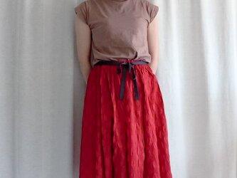 リボン付きギャザースカートの画像