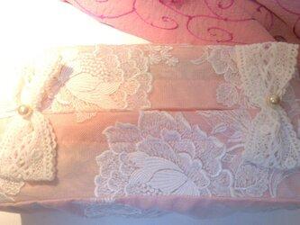 ティッシュボックスカバー02・ピンクの画像