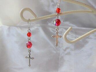 十字架ピアス【送料無料】の画像