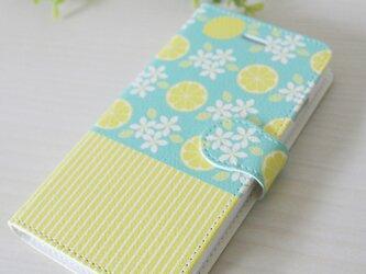 レモンの花のスマホケース/手帳型の画像