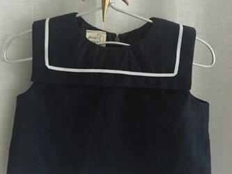麻混キッズマリンシャツ 90の画像