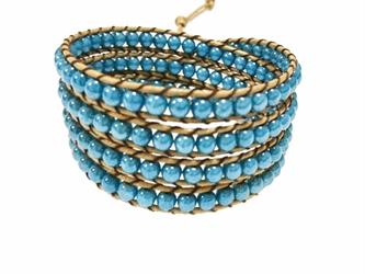 ラップブレス*turquoise blueの画像