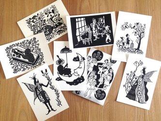 切り絵のポストカードSet○3枚組の画像