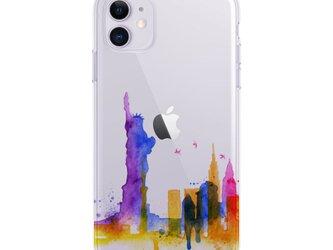 New York 1☆iPhone ケース iPhone 全機種対応 耐衝撃型可 透明 ソフト スマホケース C121-1の画像