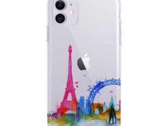 Paris☆iPhone ケース iPhone 全機種対応 耐衝撃型可 透明 ソフト スマホケース カバー C120の画像