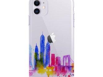 New York 2☆iPhone ケース iPhone 全機種対応 耐衝撃型可 透明 ソフト スマホケース C121-2の画像