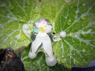 花人形ピン/ユキノシタの画像