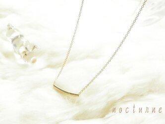 14kgf~gold tube ネックレスの画像