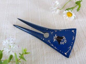 山野草 木のかんざし (藍色)の画像