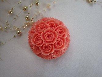 薔薇の花束。ソープカービングの画像