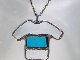 T シャツ ネックレス(青)の画像