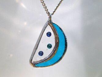 スイカ ネックレス(青)の画像