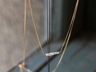 K18 キューブ ダイヤモンド ネックレスの画像