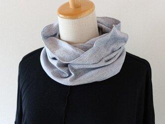 つり編みスヌード 【杢ブルー】の画像