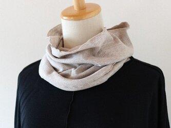 つり編みスヌード 【杢ブラウン】の画像