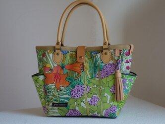 サイドポケットバッグS(リバティ:アリスとアンナのガーデン柄C)の画像