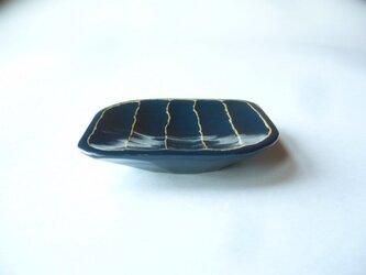 豆皿b (濃青)の画像