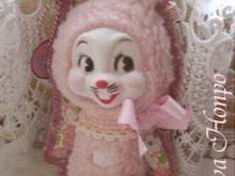 50sベビーピンクうさぎちゃんの装着ドールポーチ*の画像