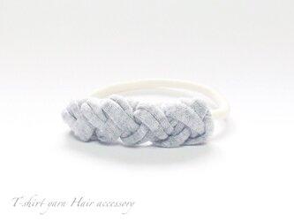 T-shirt yarn ヘアゴム(グレー)の画像