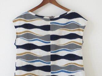太よろけ縞浴衣のバックリボンフレンチの画像