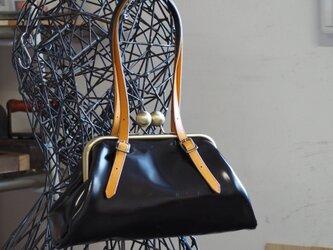 『受注製作』がま口 Leather bag  sankaku No.9001の画像