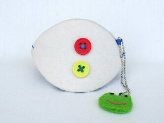 ケロ 貝の口(大)ボタン2色の画像
