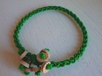 編みゴム(ヘアゴム)~ グリーンの画像