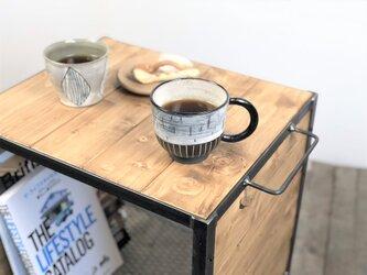 サイドテーブル・コーヒーテーブル【アイアンサイドテーブル/Iron Side table/キャスター】の画像