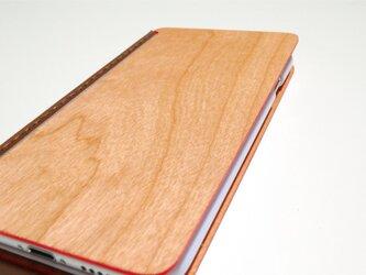 iPhone 6/6s ハイブリッドケース手帳型 チェリーの画像