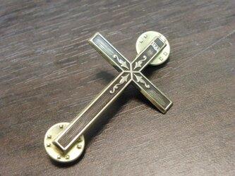 真鍮ブラス製 ビンテージデザインクロス・十字架ピンズブローチ ハット・バッグ・ジャケットアクセに!の画像