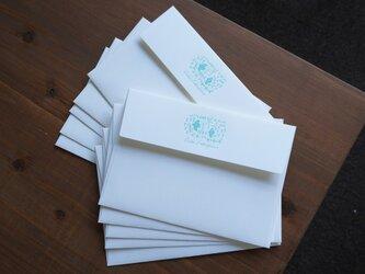 【活版印刷】封筒10枚セット forest(ウォーターカラー)の画像