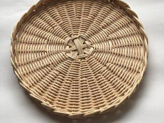 籐のおやつトレーの画像