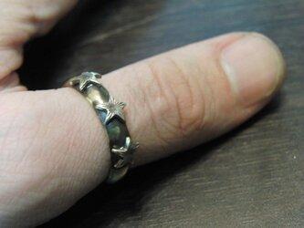 スリースター真鍮ブラスリング 指輪サイズ1号~40号/タイリング,トゥリングにもの画像