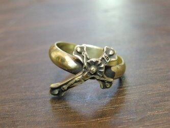 ビンテージクロス真鍮ブラス製リング 指輪サイズ1号~40号/タイリング,トゥリングにもの画像